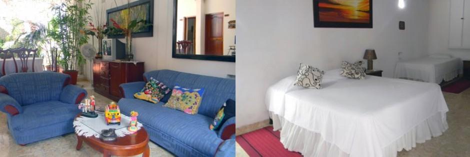 Sala y habitaciones Fuente casahotelpedregal com